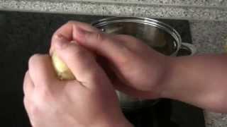 Как чистить вареную картошку.