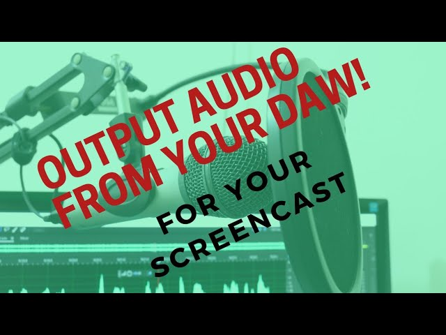 How to Use Filmora 9 to Output Audio from your DAW in a Screen Recording