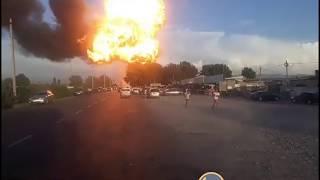 Взрыв на АЗС в Баткенской области