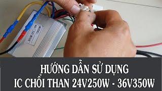 Hướng dẫn đấu điện bo điều khiển chổi than thông minh chế xe thường thành xe đạp điện | TDT Vlogs