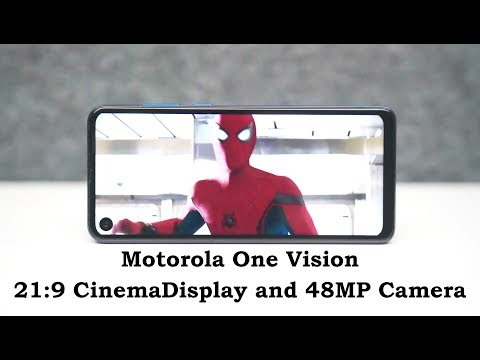 Motorola One Vision - Closer Look At 21:9 Cinema Display And 48MP Camera