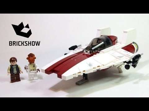 Lego Star Wars 75003 A-wing Starfighter Build & Review