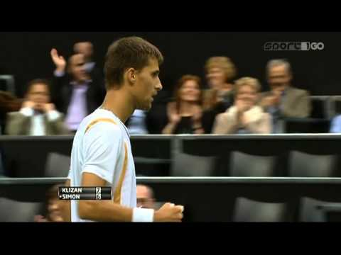 Rotterdam QF: Martin Klizan vs Gilles Simon 76 36 03 ret. highlights