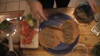 Raw Food Recipe ~ Mushroom Spread On Corn Tortillas