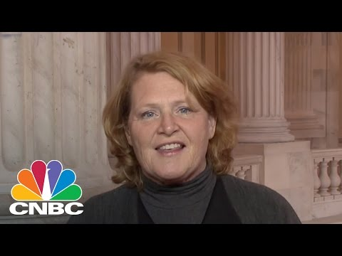 Sen. Heidi Heitkamp: Donald Trump And I Spent A Lot Of Time Talking About Jobs | Squawk Box | CNBC