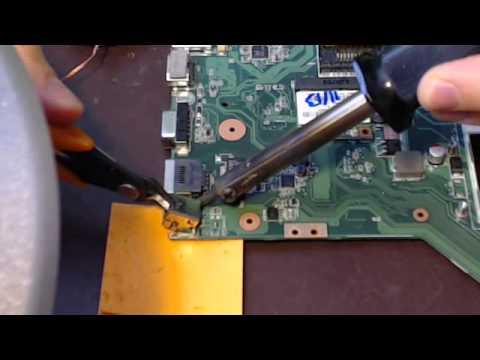How to power jack repair replacement fix on Asus x54c k54c x54c-bbk15 laptop x54l k54l