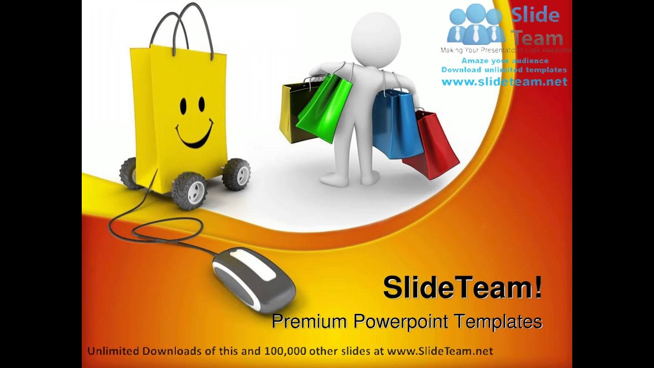 Online Shopping Mouse Powerpoint Templates Themes And Backgrounds