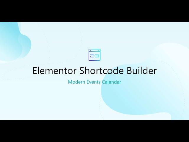 Elementor Shortcode Builder Add-On
