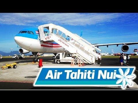 FLIGHT REPORT / AIR TAHITI NUI  AIRBUS A340-300 / AUCKLAND - TAHITI