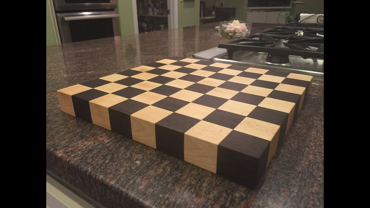 Diy Wood Chess Board Making A Chess Board From Exotic Wood Youtube