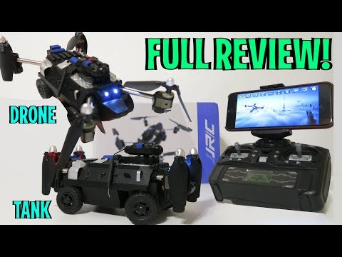 UNBOXING & LETS PLAY - TANK RC + DRONE!! - 2 in 1 transformer - JJR/C H40WH -  FULL REVIEW!