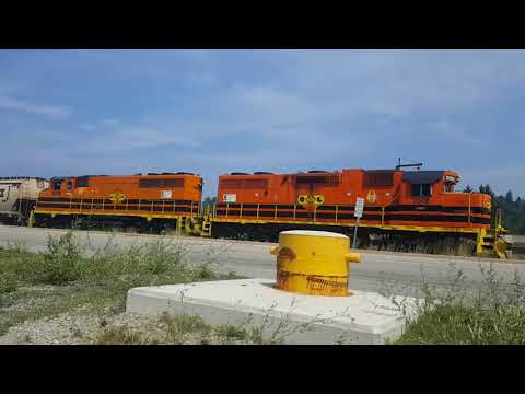 Goderich Mine! GEXR 581 Working And Leaving At The Sifto Salt Mine July 16, 2018