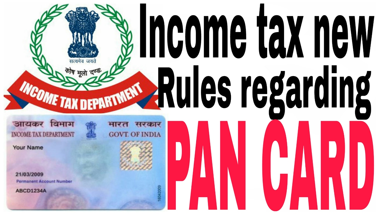 Image result for income tax rules for pan card holders