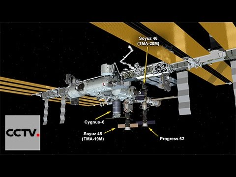 Progress spacecraft brings food & supplies to space station