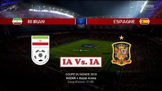 Iran - espagne [fifa 18 world cup] | coupe du monde 2018 (2nde journée - groupe b) | ia vs. ia
