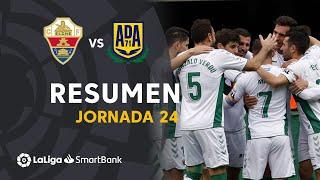 Resumen de Elche CF vs AD Alcorcón (1-1)