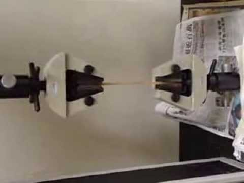 Tensile Test of Glass Fibre Reinforced Plastic Composites-Run.AVI