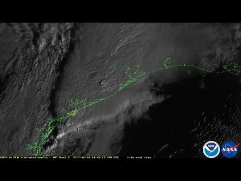 First Images from GOES-16 Lightning Mapper