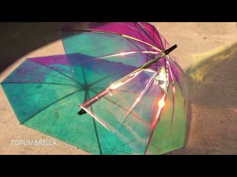 Factory manufacturing clear umbrella