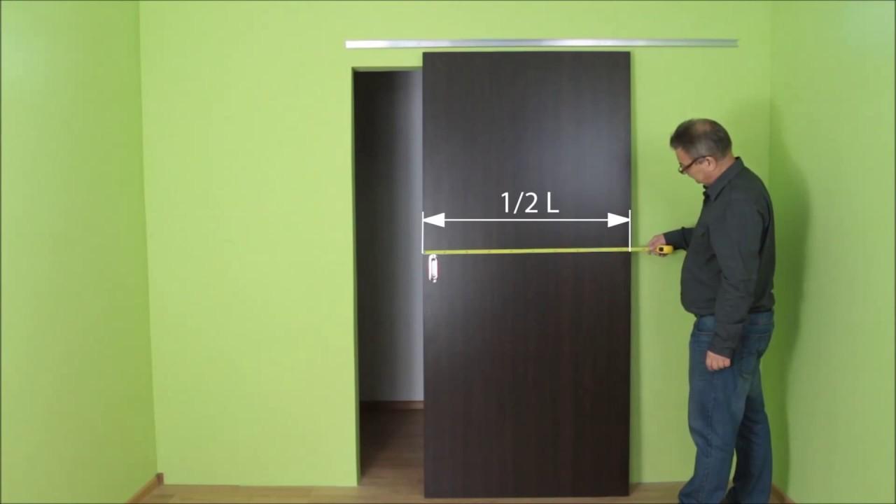 Slid Up 120 Systeme Coulissant Suspendu Pour 1 Porte De Placard 45 Kg Youtube