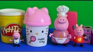 Play-doh Hello Kitty Peppa Pig Full Episode Gorge Pig Grandma Pig Playdough WOW