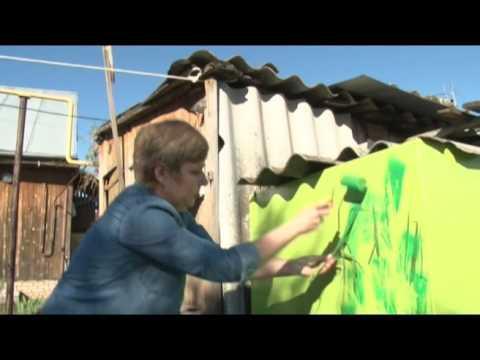 Как украсить бочку на даче