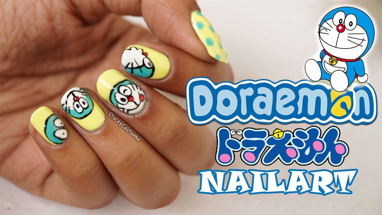 - Cartoon Nailart Tutorial DORAEMON ドラえもん - YouTube