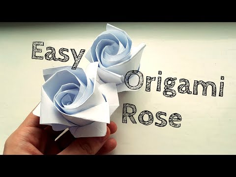Easy Origami Rose Video Tutorial