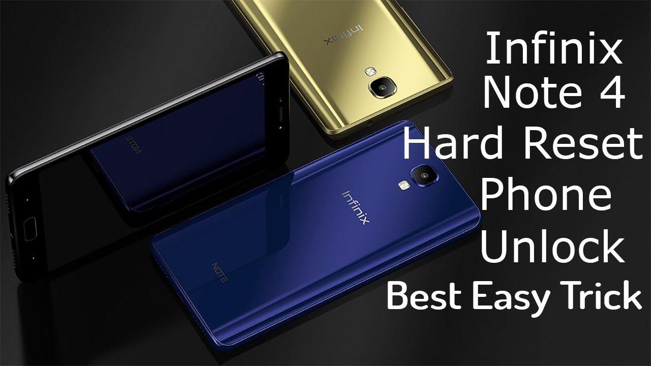 Infinix Note 4 hard reset Phone Unlock
