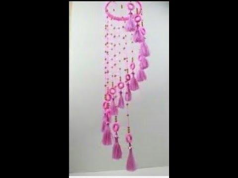 DIY Woolen Jhumar / Easy Shopping bag Craft Ideas /JERIN Handicraft.