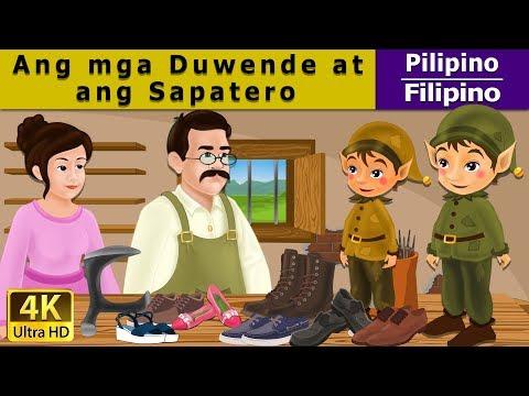 Ang mga Duwende at ang Zapatero - mga kwentong pambata tagalog - 4K UHD - Filipino Fairy Tales