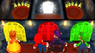 Mario Party 9 MiniGames Mario Vs Daisy Vs Luigi Vs Waluigi (Master Difficulty)