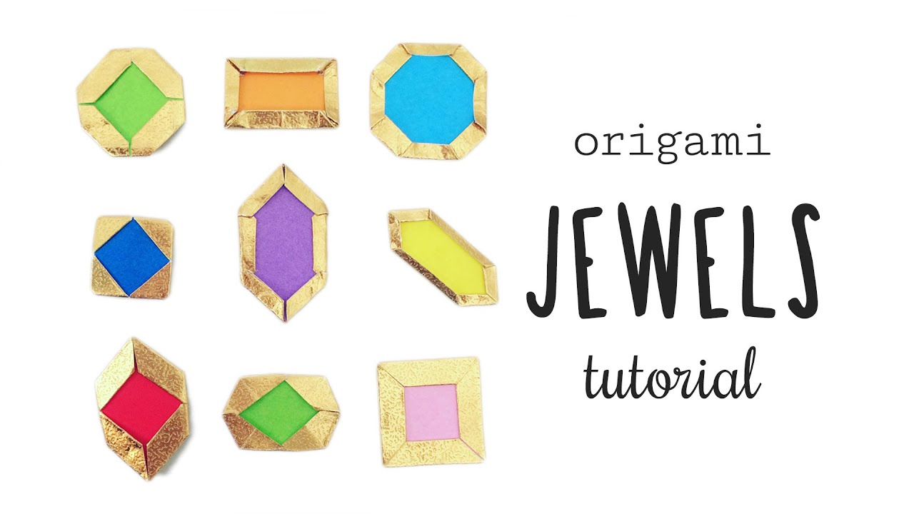 Easy Origami Jewels & Gems Tutorial ♥︎ Crafts Card Making ... - photo#40