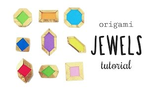 Easy Origami Jewels & Gems Tutorial ♥︎ Crafts ✦ Card Making ♦︎ DIY ★ Paper Kawaii