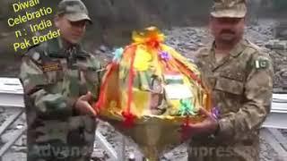 India-Pakistan Troops Exchange Diwali Sweets At Wagah Border
