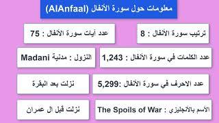 8 Alanfaal معلومات حول سورة 9