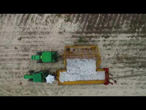 Cotton Harvesting - Drone View - North Carolina 2016