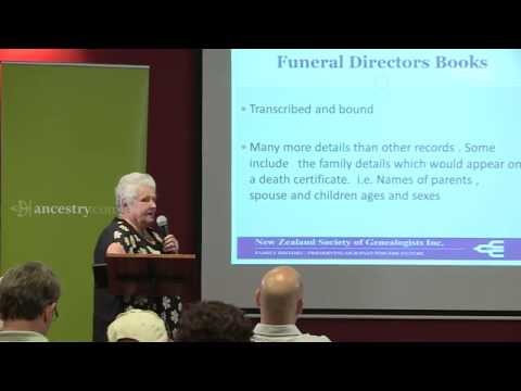 NZ Cemeteries Heritage Week - Locating your ancestors through burial records