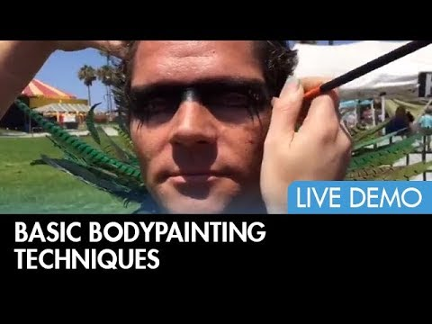 Makeup FX Bodypainting Demo at Venice Beach, California