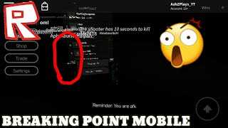 HOW TO GLITCH IN BREAKING POINT ON MOBILE! - Roblox Tutorial 2020