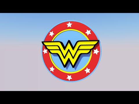Wonder Woman Logo - SketchUp 3D Model