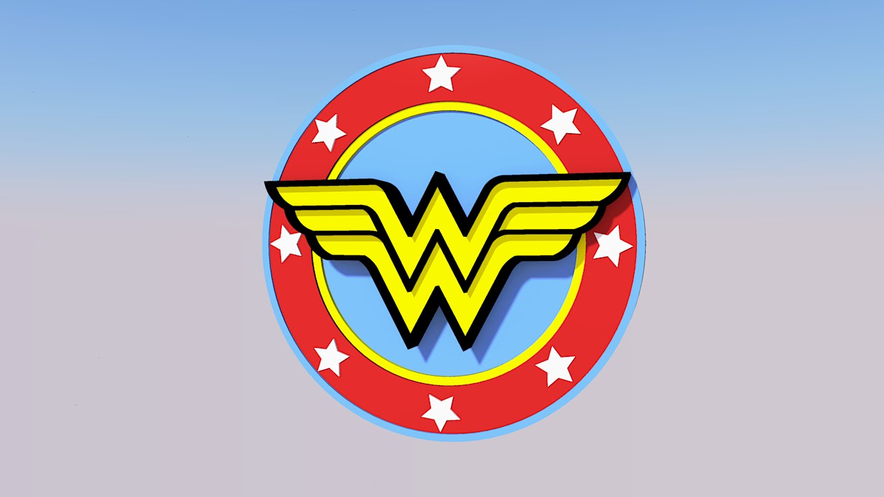 wonder woman logo sketchup 3d model youtube printable superman logo coloring page printable superman logo coloring pages
