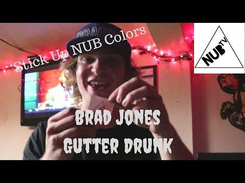 Brad Jones from Gutter Drunk Sticking up NubTV colors.
