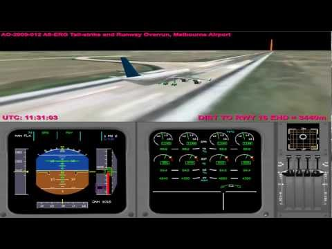 Tailstrike and runway overrun - Emirates EK407 (Animation)