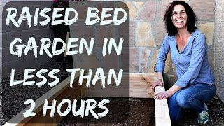 How to Build a Raised Garden Bed with Wood - Easy and Cheap to Make - Organic Gardening in Arizona