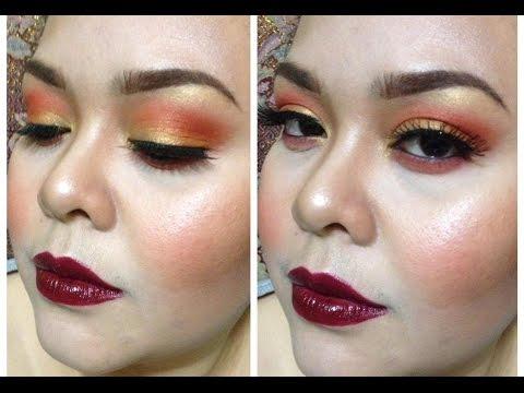 Fall to Autumn Makeup Tutorial (Orange + Golden + Yellow)!