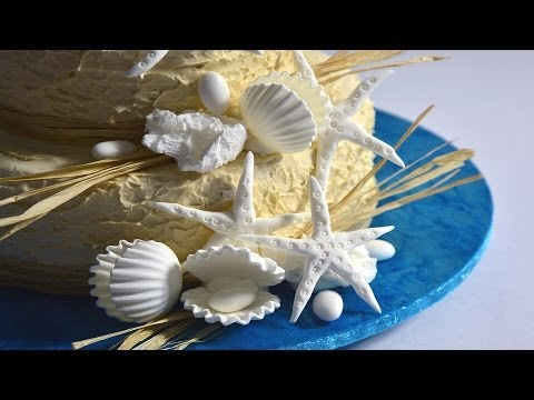 Beach Wedding Cake Tutorial