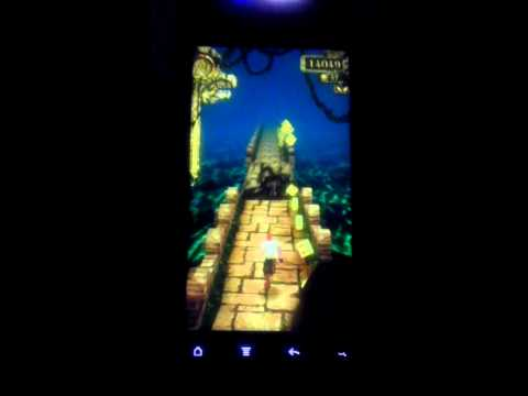 Playing temple run on my HTC evo design 4g