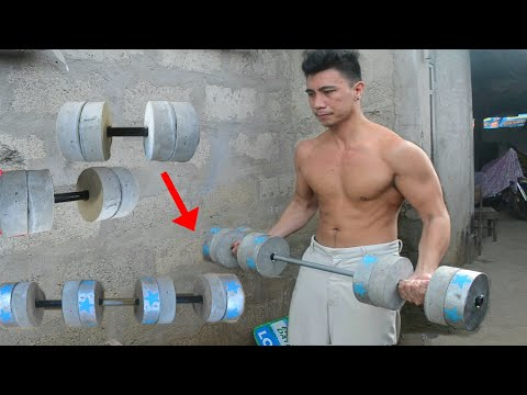 How to Make Dumbbell Convertible to Barbell - Homemade Weights - DIY Weights at Home