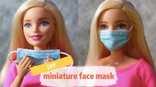 Quarantine Barbie - How To Make Doll Disposable Mask | DIY Barbie Face Masks
